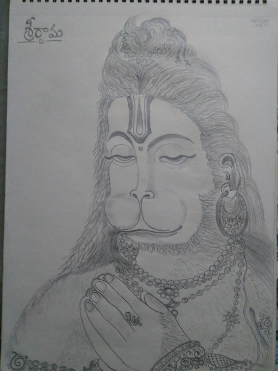 Fine Hanuman Pencil Drawing for Beginners Lord Hanuman - Pencil Drawing | Pencil Drawings Of Gods | Pencil Pics
