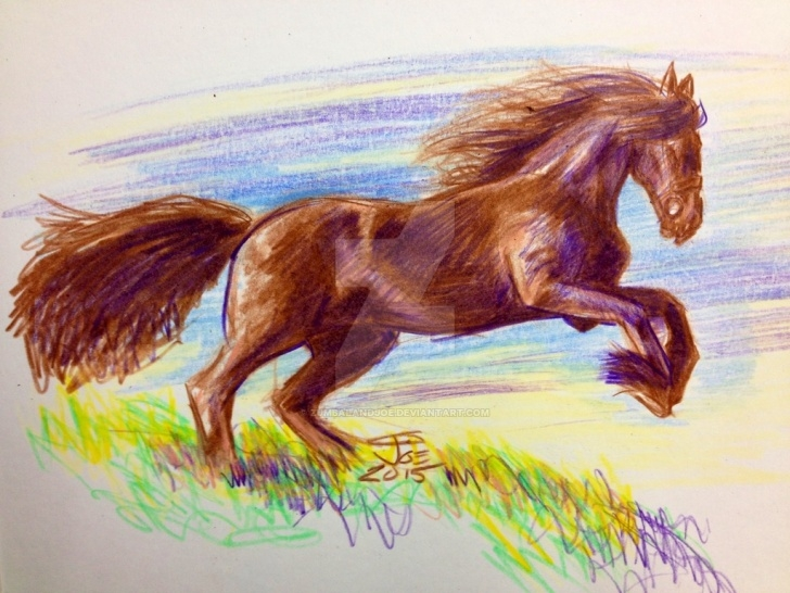 Fine Horse Drawing Colored Pencil Lessons Colored Pencil Quick Horse Study By Zumbalandjoe On Deviantart Photo