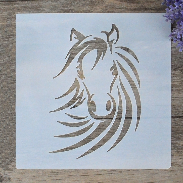 Fine Horse Wall Stencils For Painting Courses Us $0.95 20% Off|Diy Craft Layering Horse Stencils For Walls Painting  Scrapbooking Stamping Stamps Album Decorative Embossing Paper Cards 6  Inch-In Image