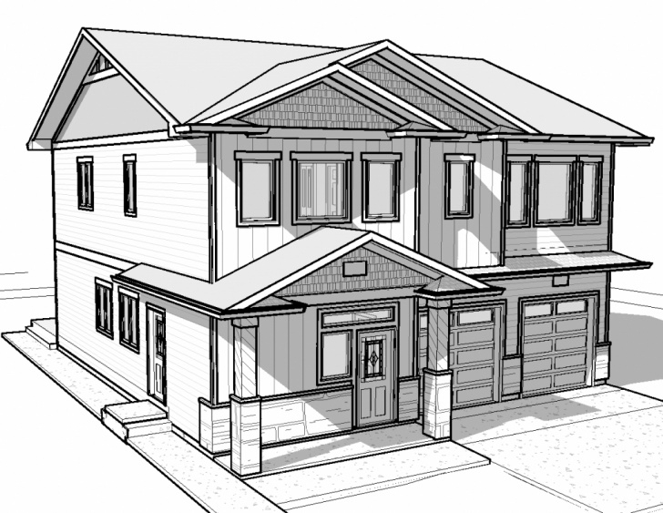 Fine House Pencil Sketch Lessons House Sketch Easy At Paintingvalley | Explore Collection Of Picture