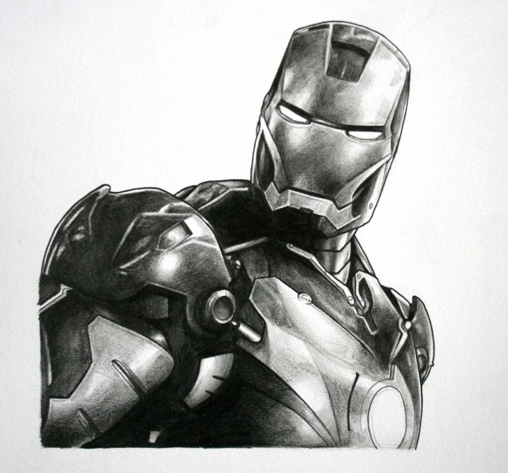 Fine Iron Man Pencil Sketch Free Iron Man, Avengers Original Pencil Drawing | Cool Creations | Iron Photo