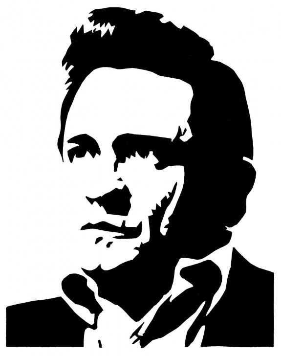 Johnny Cash Stencil Art
