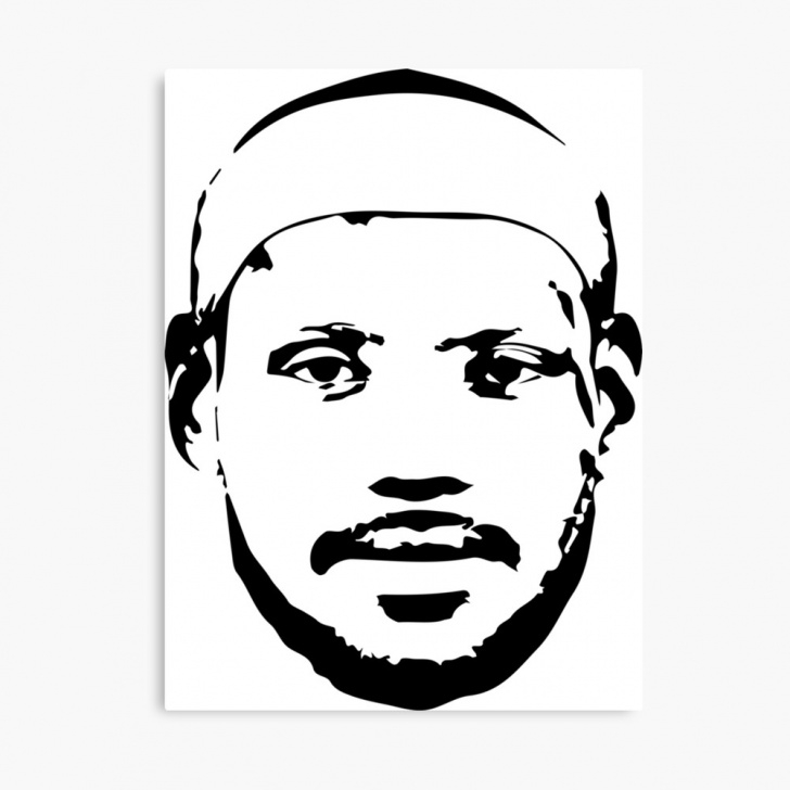 Fine Lebron James Stencil Art Simple Lebron James | Canvas Print Pics
