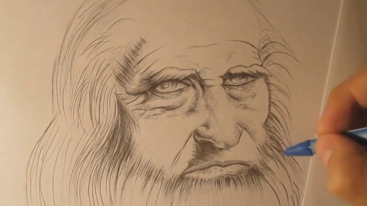 Fine Leonardo Da Vinci Pencil Drawings Techniques for Beginners Drawing Realistic Portrait Of Leonardo Da Vinci Pics