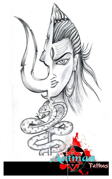 Mahadev Pencil Sketch