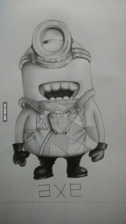 Fine Minions Pencil Sketch for Beginners Minion Pencil Sketch - 9Gag Pic