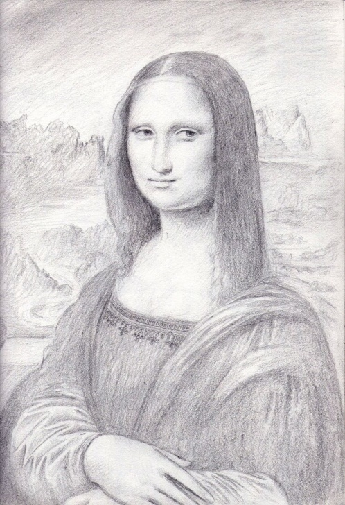 Fine Mona Lisa Pencil Drawing Techniques for Beginners Mona Lisa Sketch By Dashinvaine | Variations On A Theme. In 2019 Pics