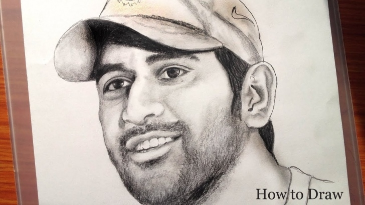 Fine Ms Dhoni Pencil Sketch Tutorial Drawing Ms Dhoni Is An Indian International Cricketer / Very Easy Steps For  Beginners / Banglar Art Picture