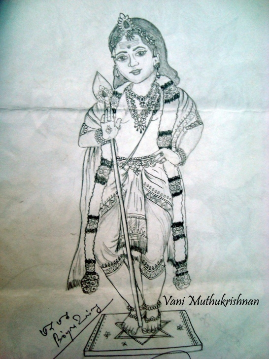 Fine Murugan Pencil Drawing Tutorial Lord Muruga | Mypencilwork Images
