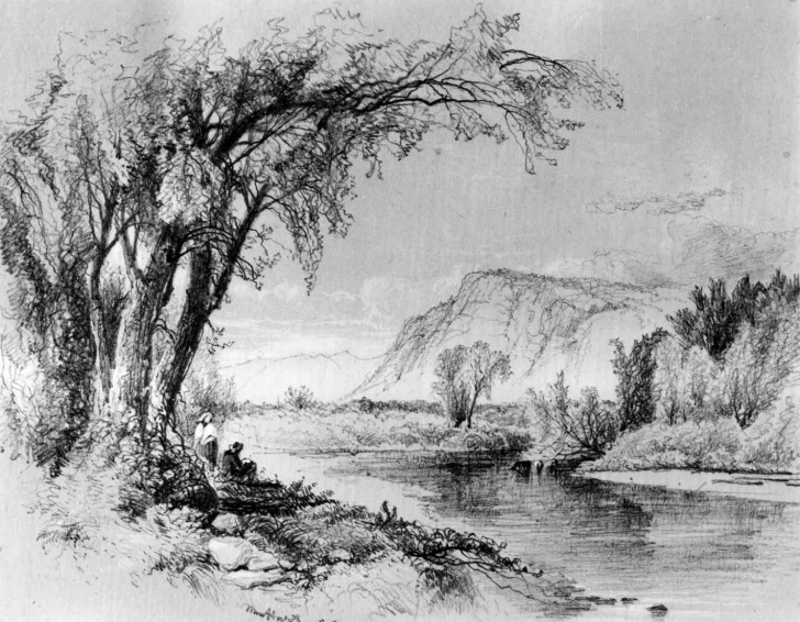 Fine Nature Scenery Sketch Techniques Pencil Sketch Scenery At Paintingvalley | Explore Collection Of Images