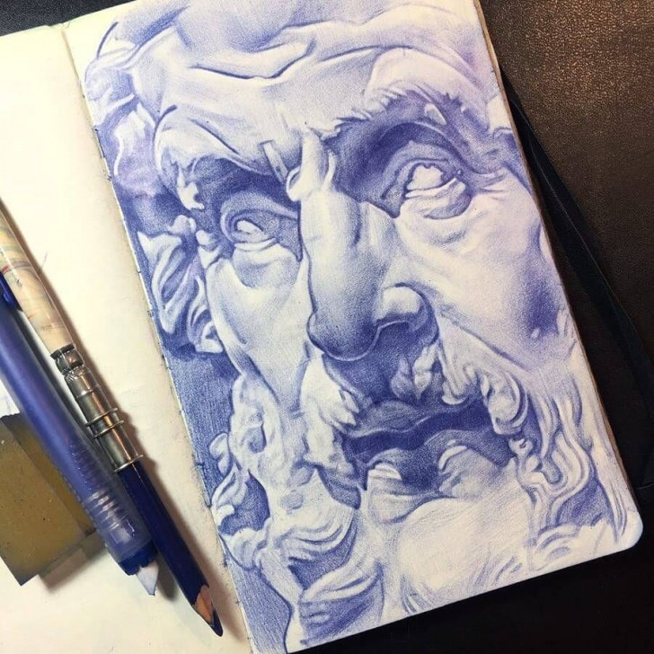 Fine Pen And Colored Pencil Drawings for Beginners Moleskine Color Pencil Drawings In 2019 | Drawings | Pencil Drawings Photo