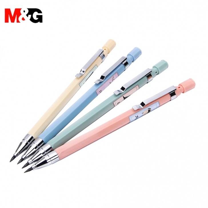 Fine Pen Pencil Drawing Simple Us $5.42 15% Off|M&g Mechanical Pencil 2.0Mm Own A Sharpener 2B Pencil  Refills Automatic Pencil Drawing Sketch Office Supplies Stationery-In Pics