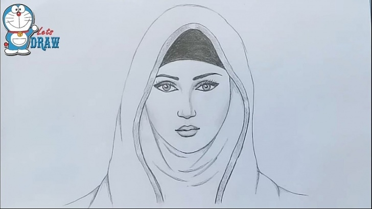 Fine Pencil Art Girl for Beginners A Girl With Hijab Pencil Sketch / How To Draw A Hijab Girl Photos