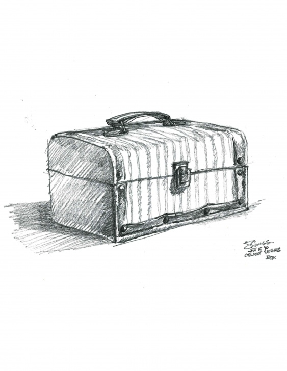 Fine Pencil Box Sketch Simple Jewelry Box Pencil Sketch On Paper | Still Life Sketches | Still Images