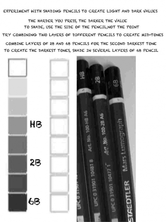 Fine Pencil Shades Lightest To Darkest Simple Easy-Lightest-Drawing-Pencil-For-Beginners-With-Tutorialrhcraftsycom Image
