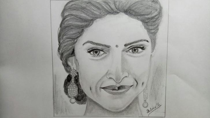 Fine Pencil Shading Portrait Ideas Dipika Padukone || How To Draw Portrait || Pencil Shading|| Step By Step Picture