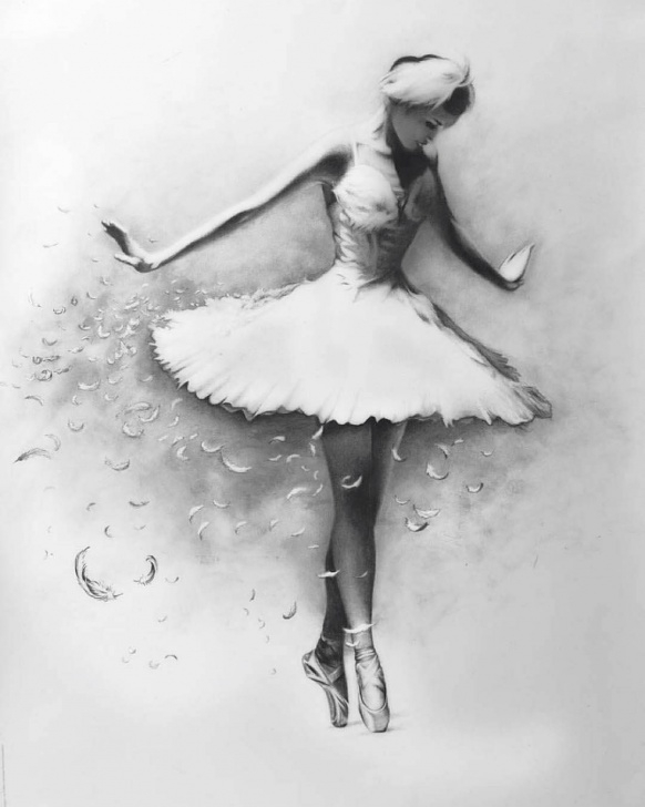 Fine Pencil Sketch Of Dancing Girl for Beginners Ballerina #charcoal #drawing #ballet #dancing #girl #dress #black Picture