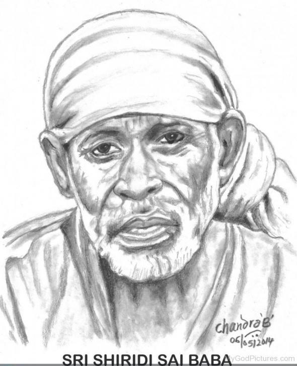 Fine Pencil Sketch Of Sai Baba Tutorials Beautiful Pencil Sketch Of Sai Baba Ji - God Pictures Image