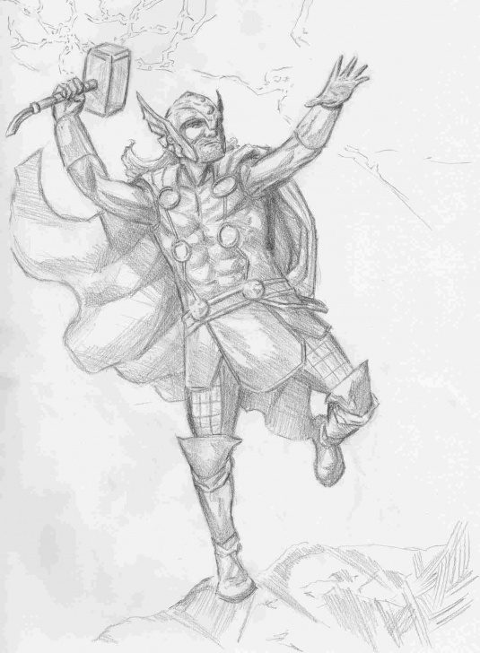 Fine Pencil Sketch Of Thor Free Rhpinterestcom Pencil Pencil Sketch Of Thor Drawing Of Thor Drawings Picture
