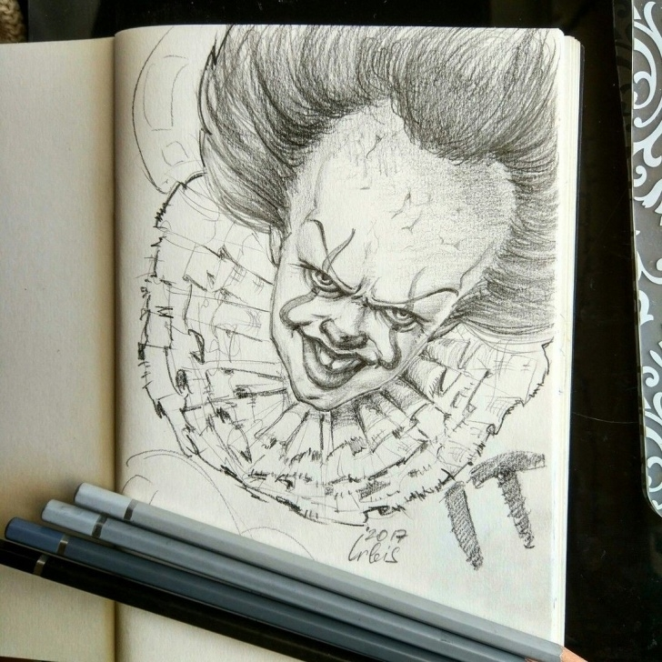 Fine Pennywise Pencil Drawing Tutorials Pin By Solangelo On C•h•a•r•a•c•t•e•r•s In 2019 | Pencil Drawings Image