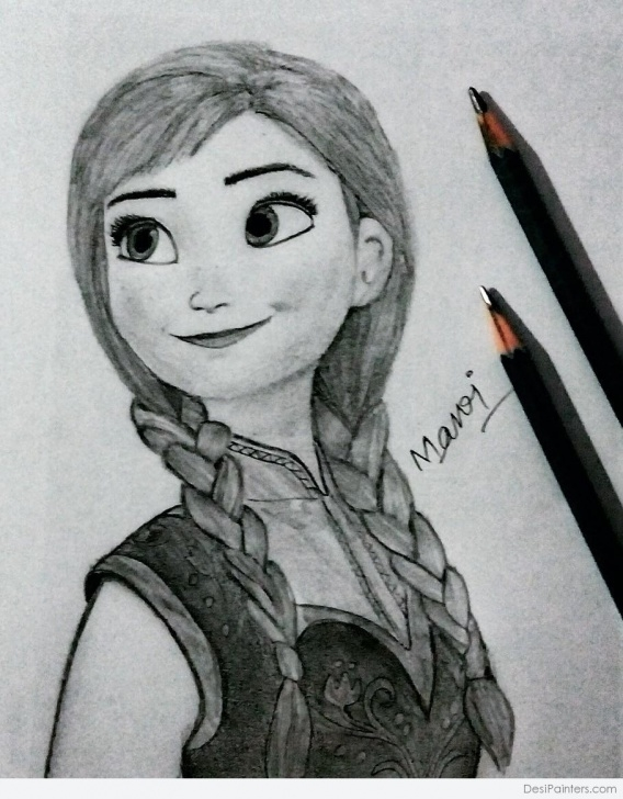 Fine Rapunzel Pencil Drawing for Beginners Pencil Sketch Of Cartoon Character Rapunzel | Desipainters Photo