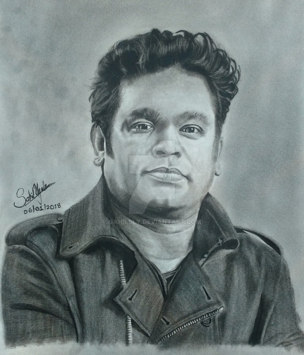 Fine Realistic Pencil Sketch Ideas Realistic Pencil Drawing Of A.r. Rahman By Sahilsly On Deviantart Pic