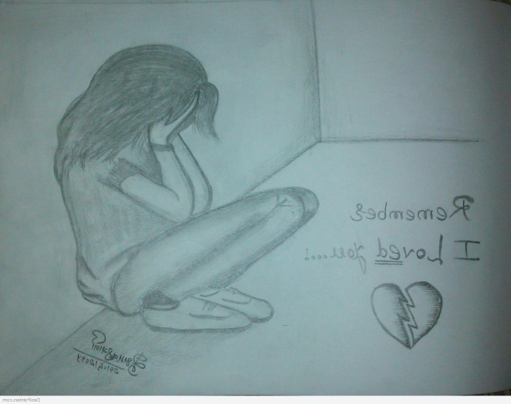 Fine Sad Love Pencil Sketches Tutorial Breakup Sketches At Paintingvalley | Explore Collection Of Pictures
