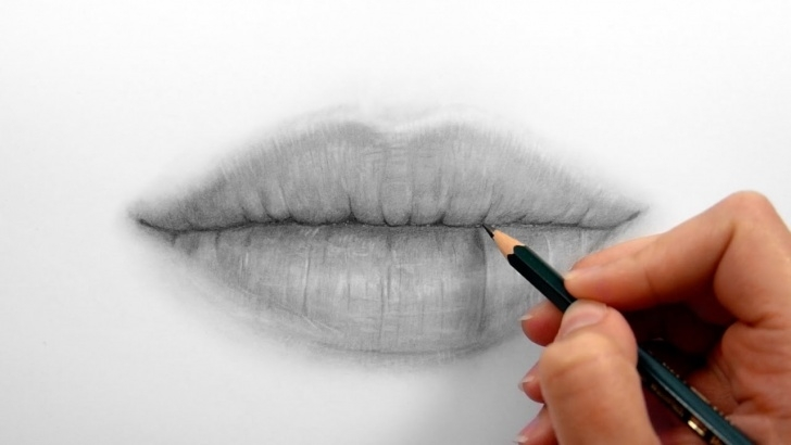 Fine Shading With Graphite Pencils Tutorials Timelapse | Drawing, Shading Realistic Lips With Graphite Pencils | Emmy  Kalia Photos