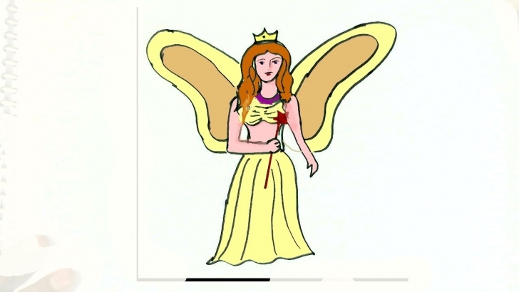 Fine Simple Pencil Drawings Of Fairies Courses How To Draw Fairy- In Easy Steps For Children. Beginners Image