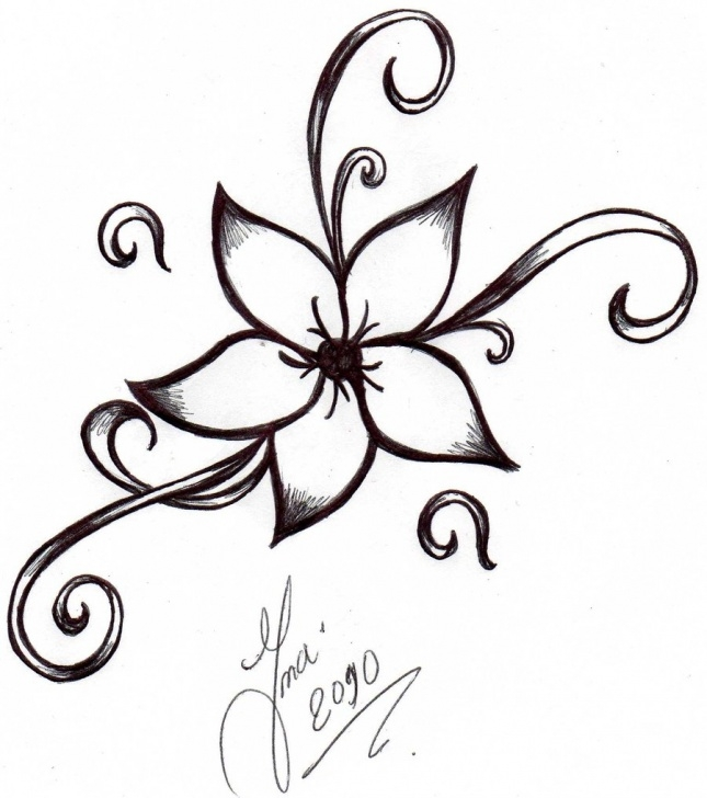 Fine Simple Pencil Drawings Of Flowers Courses Free Drawing Of Flowers, Download Free Clip Art, Free Clip Art On Picture