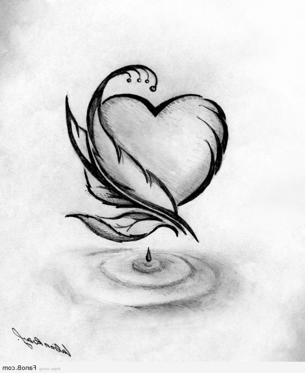 Simple Romantic Pencil Drawings