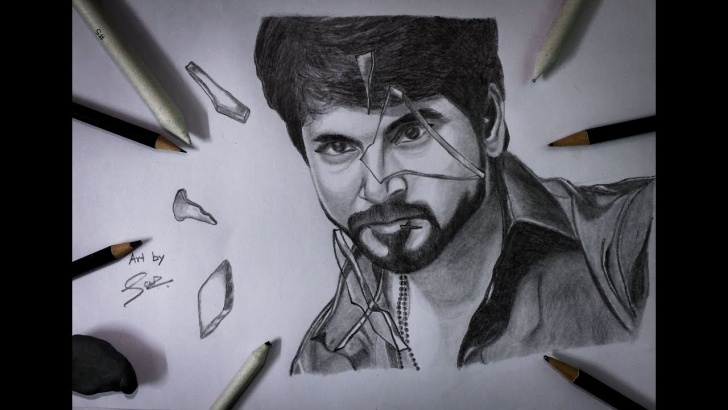 Fine Sivakarthikeyan Pencil Drawing Techniques Velaikkaran Drawing Sivakarthikeyan | Pencil Sketch Image
