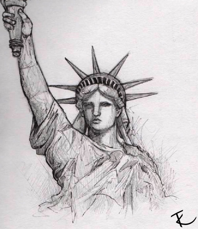 Fine Statue Of Liberty Pencil Drawing Techniques for Beginners Resultado De Imagem Para Sketching | Patriotism | Statue Of Liberty Image