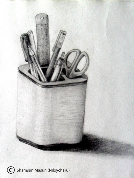Fine Still Life Sketch Drawing Lessons Still Life - Creative Art In Sketching By Niloy Charu In Portfolio Image