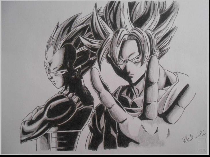 Fine Super Pencil Drawings Ideas Dragon Ball Z Pencil Sketch And Dragon Ball Super Pencil Sketches Picture