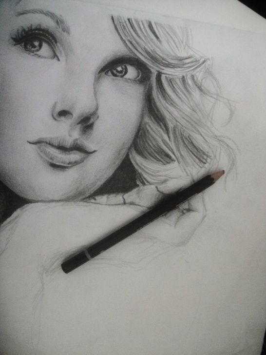 Fine Taylor Swift Pencil Sketch Tutorial Taylor Paintings Search Result At Paintingvalley Photos