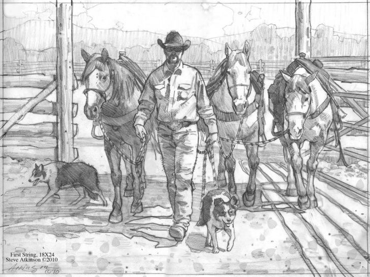 Fine Western Cowboy Pencil Drawings Tutorials Western Sketches At Paintingvalley | Explore Collection Of Pic