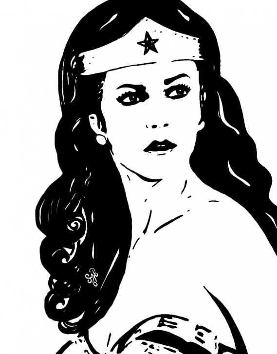 "Fine Woman Stencil Art Step by Step Wonder Woman"" ~ Lynda Carter Painting By Shon Hudspeth Www.shonsart Photos"