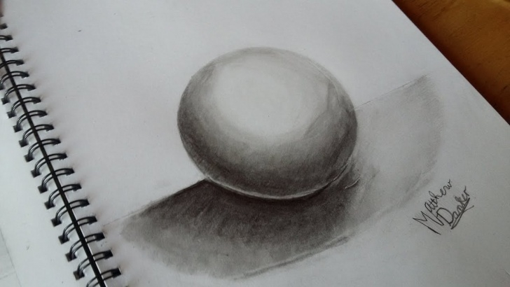 Good 3D Shading Drawing for Beginners How To Draw A 3D Sphere Using Pencil Shading Pic