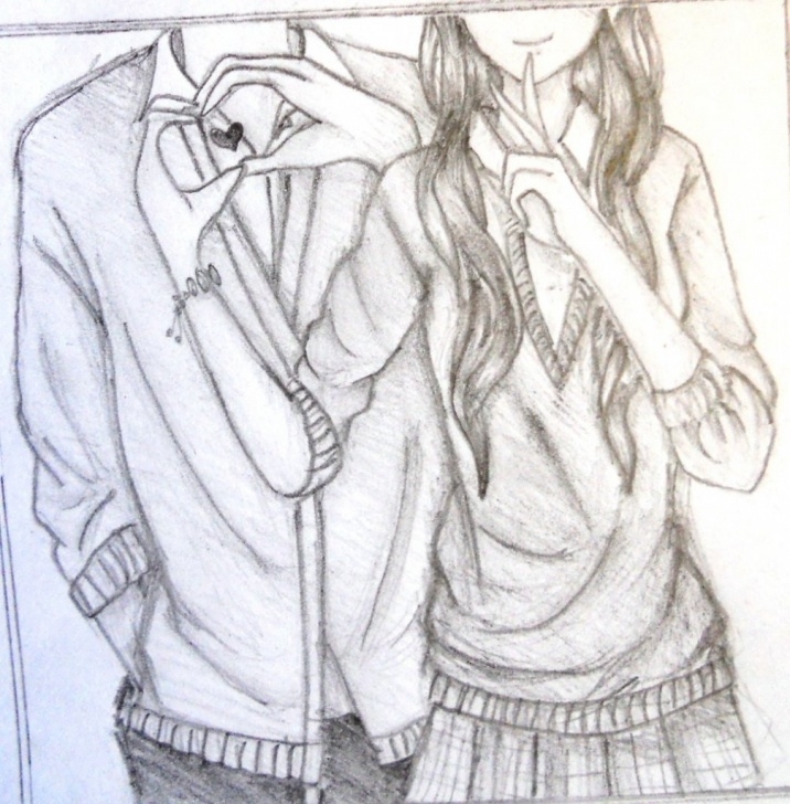 Good Anime Couples Drawings In Pencil Ideas Cute Couple Pencil Drawing At Paintingvalley | Explore Photos