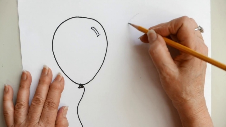 Good Balloon Pencil Drawing Step by Step How To Draw Balloons Pictures