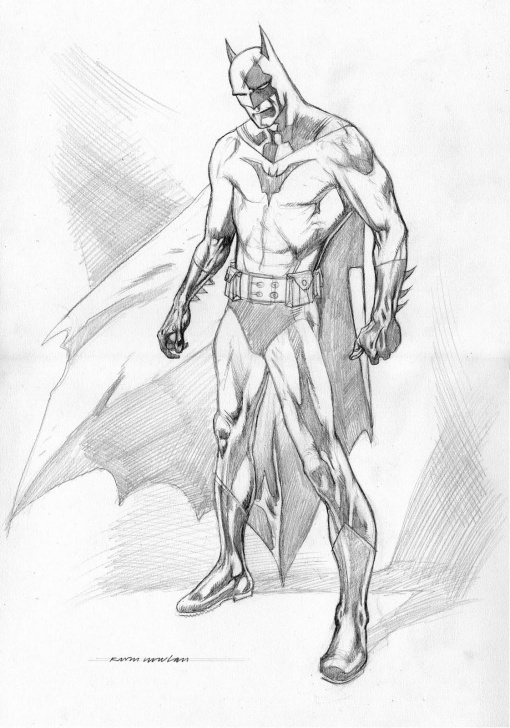 Good Batman Pencil Drawing Easy Kevin Nowlan: Batman Pencil Drawing Pic