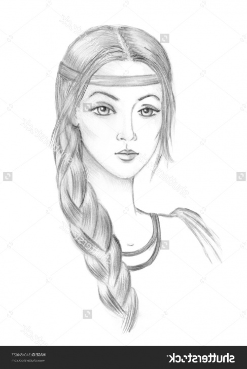 Good Beautiful Girl Sketch Free Beautiful Paintings Search Result At Paintingvalley Photo
