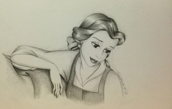 Good Beauty And The Beast Pencil Drawing Free Pencil Drawing Of Belle - Beauty And The Beast | Beauty And The Images
