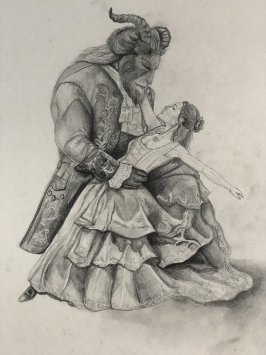 Good Beauty And The Beast Pencil Drawing Tutorial Beauty And The Beast Pencil Sketch | Disney Princess In 2019 Pic