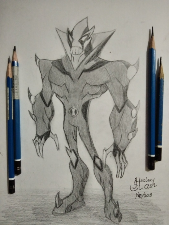 Good Ben 10 Pencil Drawing Techniques for Beginners Sketch Drawing Contest #4 : Ben 10 Swampfire Character — Steemit Image