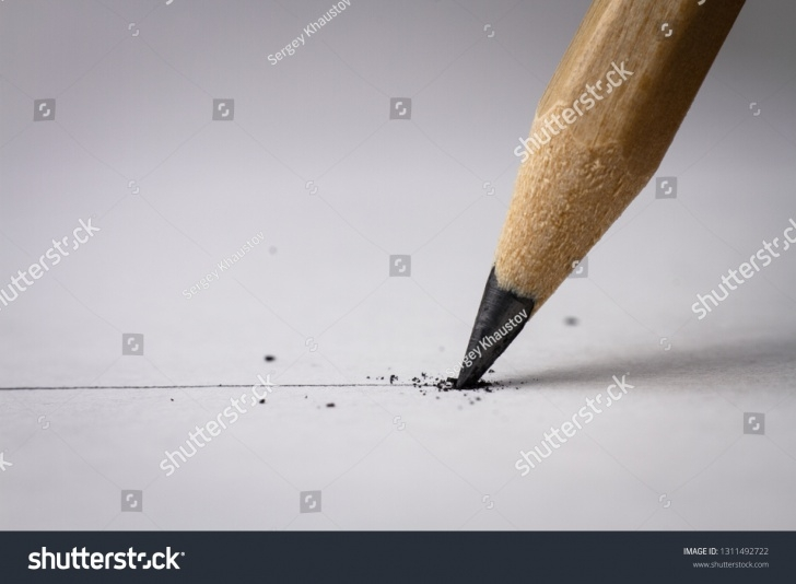 Good Broken Pencil Drawing Step by Step Close Broken Pencil Drawing Line On Stock Photo (Edit Now) 1311492722 Images