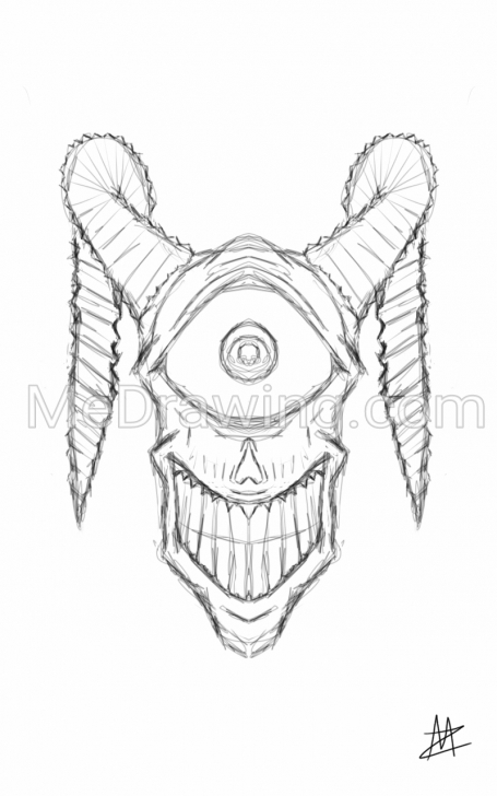 Good Creepy Pencil Drawings Easy Creepy Cyclops Head Pencil Sketch Images