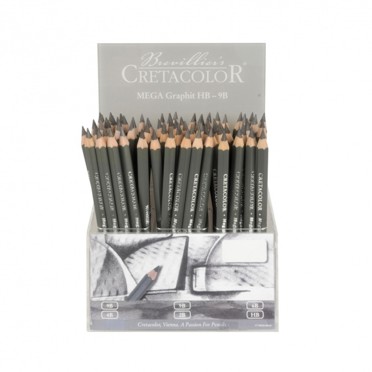 Good Cretacolor Mega Graphite Techniques for Beginners Mega Graphite Pencils 9B, Grey Polish | Savoir-Faire Image