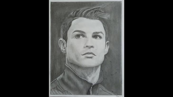 Good Cristiano Ronaldo Pencil Sketch Easy Realisctic Pencil Drawing Of Cristiano Ronaldo - Speed Drawing/ Time Lapse Image